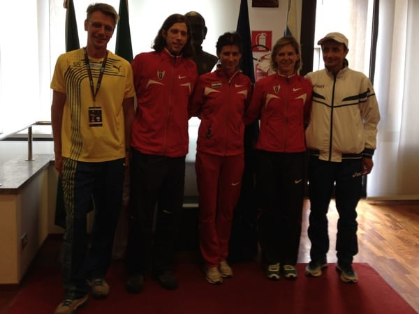 Jonas Buud, Michael Wardian, Marja Vrajic, Meghan Arbogast, and Giorgio Calcaterra