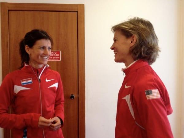 Meghan Abrogast and Marja Vrajic chatting