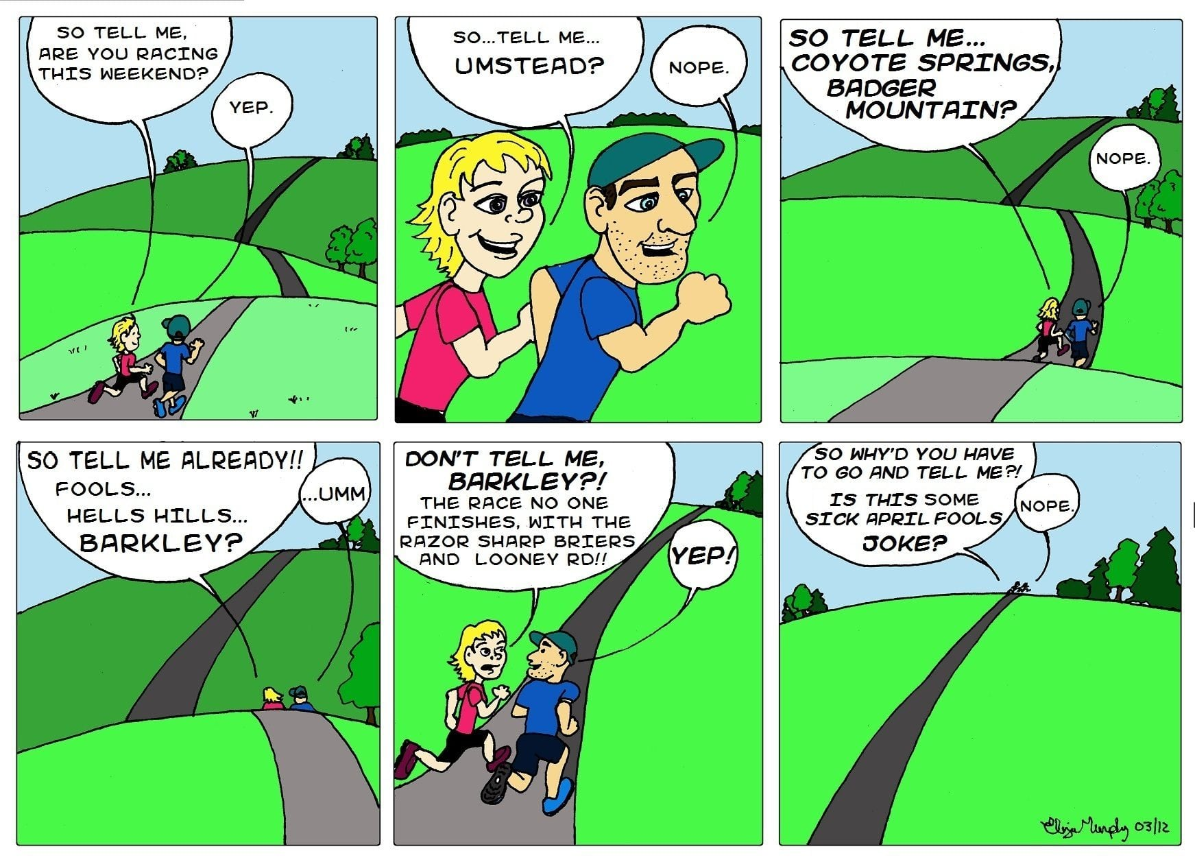 Barkley Marathons Comic