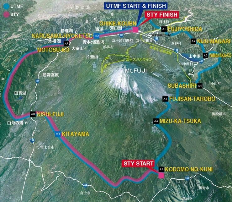 Ultra Trail Mount Muji map