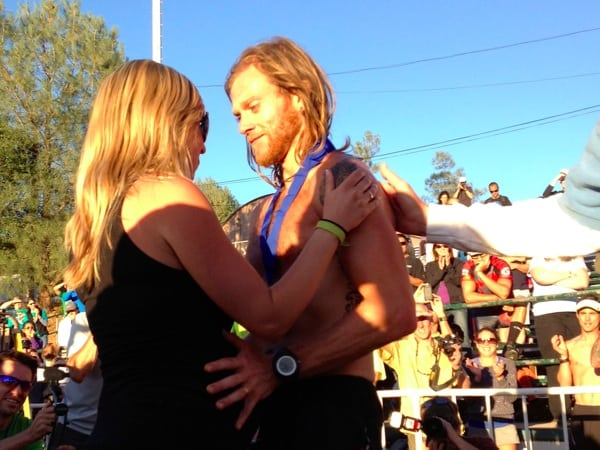 Timothy Olson - 2012 Western States 100 - Finish with Krista