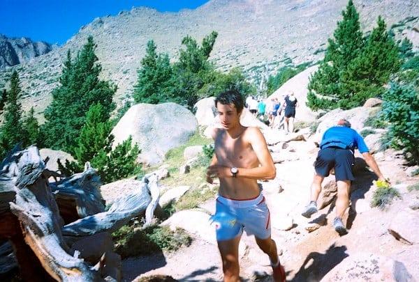 Kilian Jornet descending 2012 Pikes Peak Marathon.