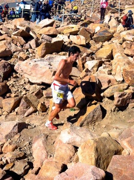 Kilian Jornet ascending 2012 Pikes Peak Marathon
