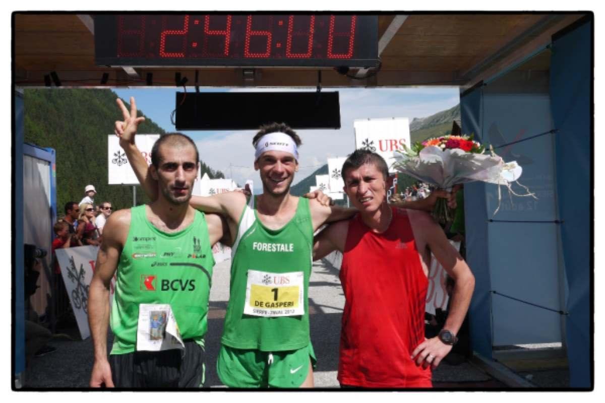 2012 Sierre-Zinal Mens Podium - Costa - de Gasperi - Cardona
