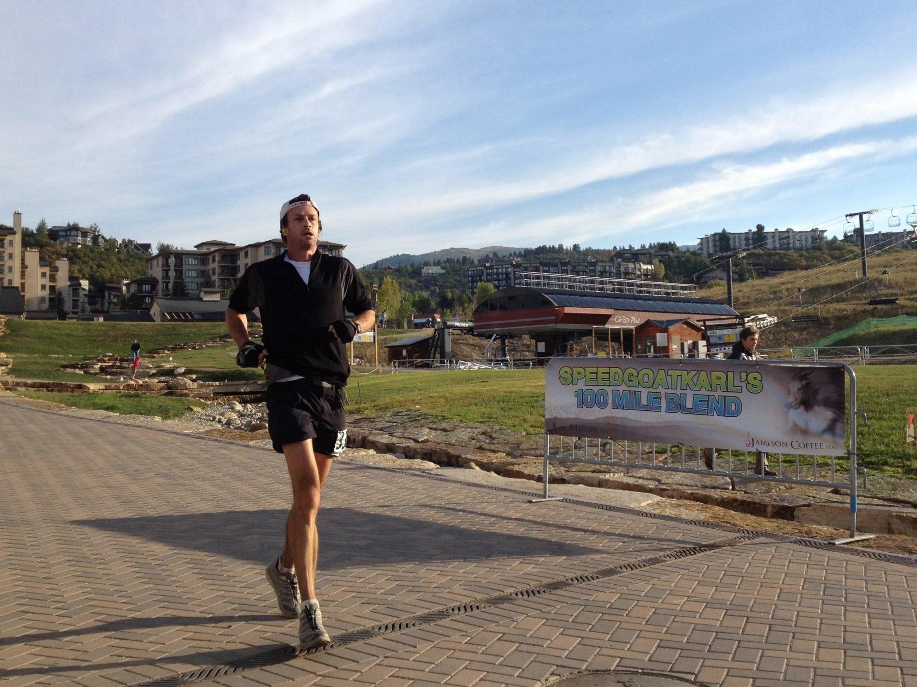 Karl Meltzer - 2012 Run Rabbit Run 100 finish