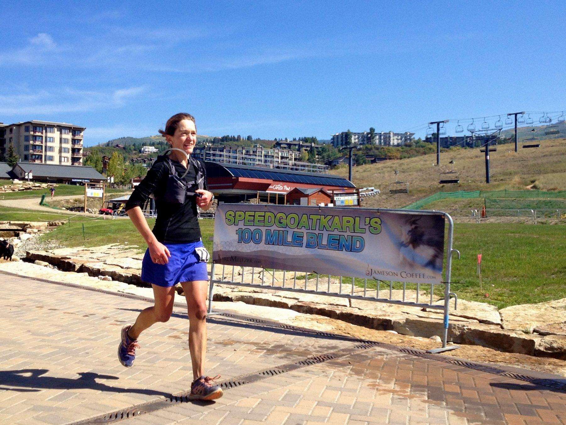 Lizzy Hawker - 2012 Run Rabbit Run 100 finish