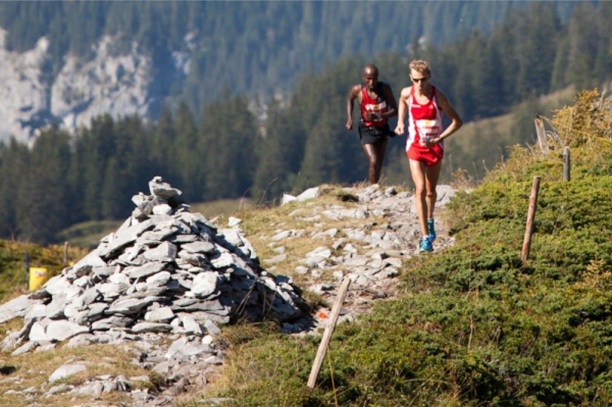 2012 Jungfrau Marathon - Markus Hohenwarter - Hosea Tuei