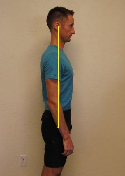 Neutral torso position