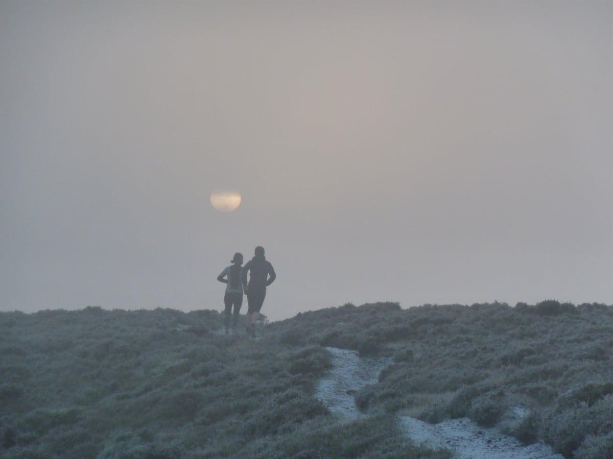 Winter running - Ilkley Moor