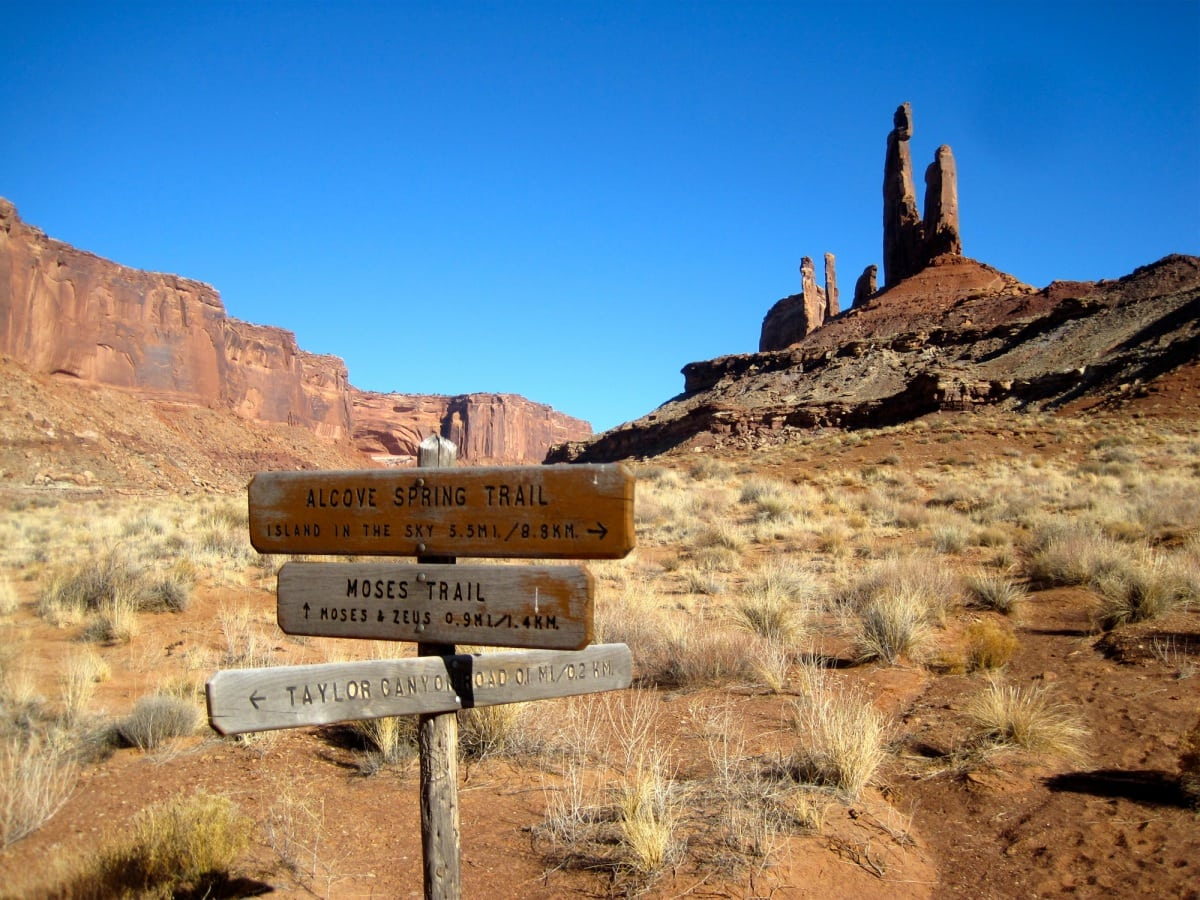 Canyonlands - Zeus Moses trail run