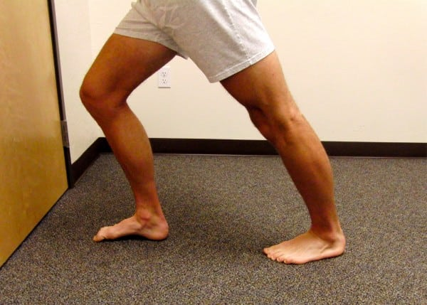 wall stretch ankle straight