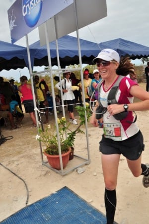 Meghan Hicks - Trail de Rodrigues - finishing
