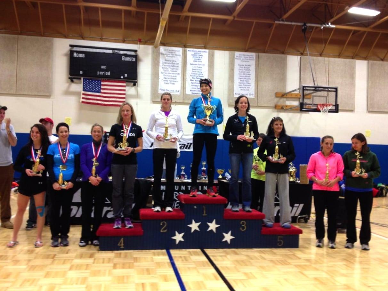 2012 JFK 50 Mile Womens podium