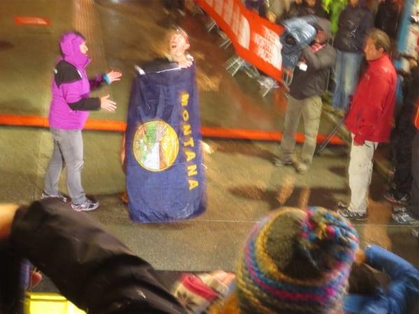 Mike Foote - Montana Flag - TNF UTMB 2012