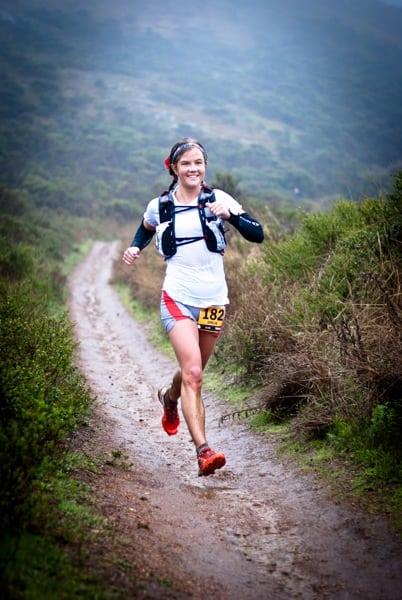 Emelie Forsberg - 2012 TNF EC 50 mile - mud stride Rivers