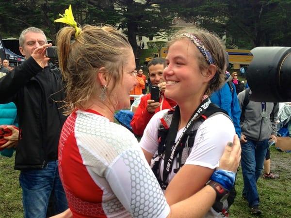 Emelie Forsberg - 2012 TNF EC 50 mile - Anna Frost and Emelie finish
