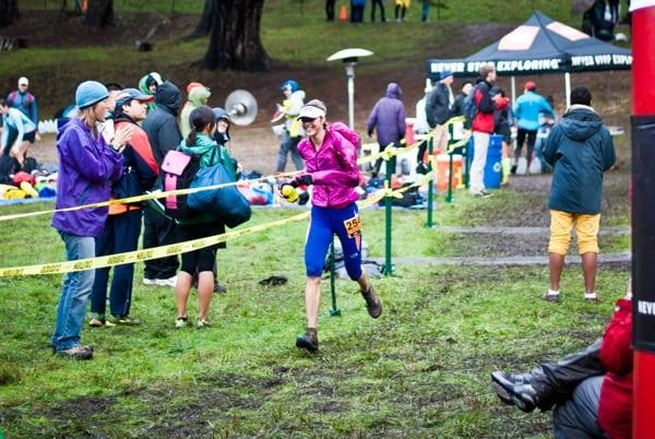 Stephanie Howe - 2012 TNF EC 50 Mile - finish