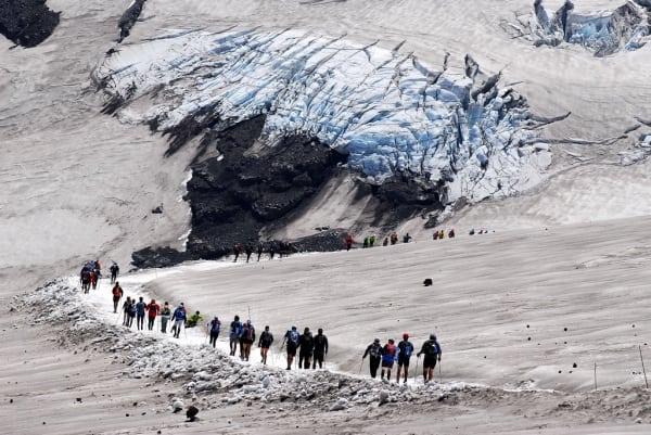 El Cruce 2012 - Mocho Choshuenco Volcano glacier