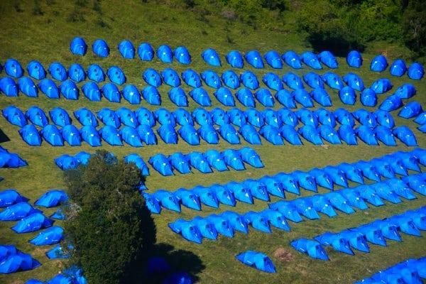 Camp at El Cruce