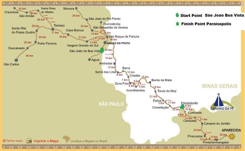 Brazil 135 map