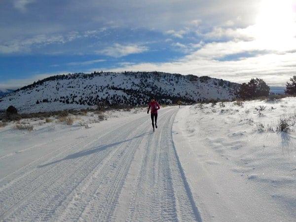 Winter running - SAD - groomed trail