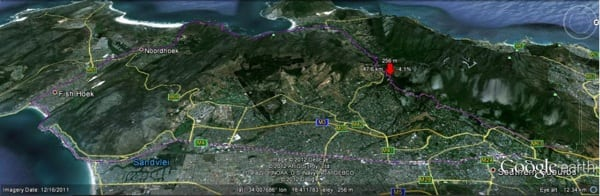 Two Oceans Marathon - Course Map