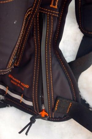 Orange Mud HydraQuiver - storage compartment access