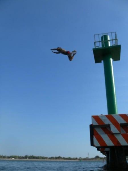 Tyler pier jumping