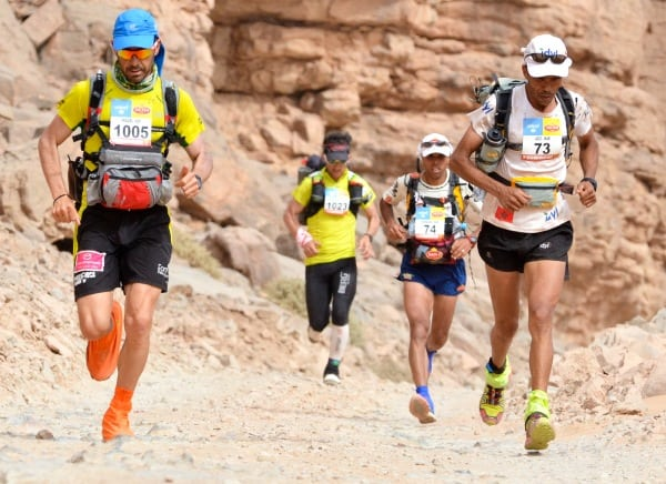 2013 Marathon des Sables - Miguel Capo - Carlos Sa - Mohamad Ahansal - Aziz El Akad