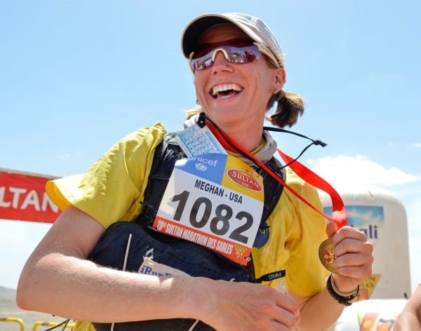 2013 Marathon des Sables - Meghan Hicks - finish line win