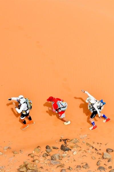 2013 Marathon des Sables - Stage 3 - rocky dune