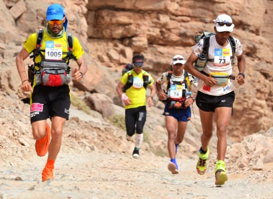 2013 Marathon des Sables - Migual Capo - Carlos Sa - Mohamad Ahansal - Aziz El Akad