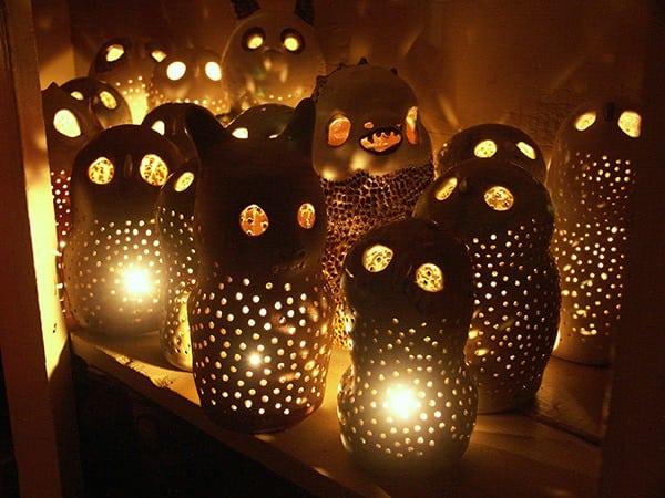 Jodee Adams-Moore - owl luminaries