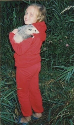Jodee Adams-Moore and possum
