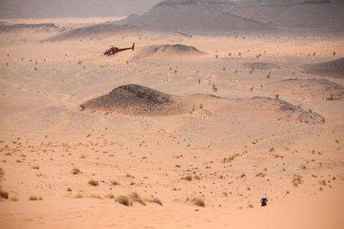 Marathon des Sables - Stage 3 - sandy climb