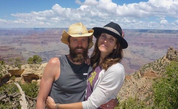 Rob Krar - Grand Canyon R2R2R FKT - Rob and Christina