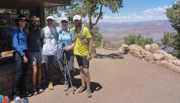 Rob Krar - Grand Canyon R2R2R FKT - group shot