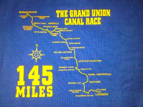 Grand Union Canal Run - map