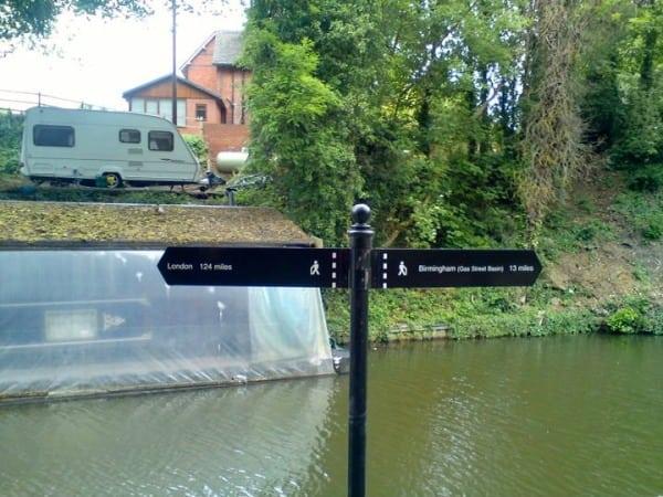 Grand Union Canal Run - sign