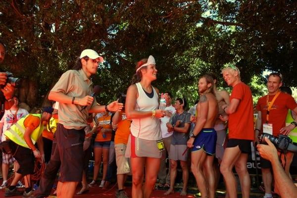 Emelie Forsberg - 2013 Transvulcania Ultramarathon - finish