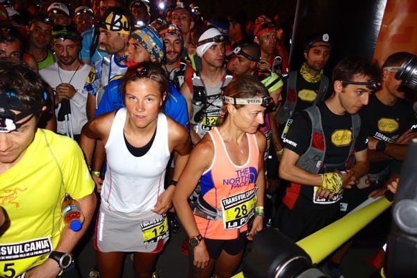Emelie Forsberg - 2013 Transvulcania Ultramarathon - start
