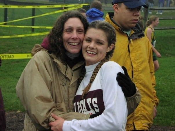 Emily Harrison - High School XC with mom
