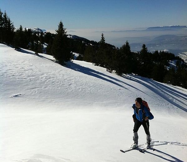 Sebastien Chaigneau - ski training