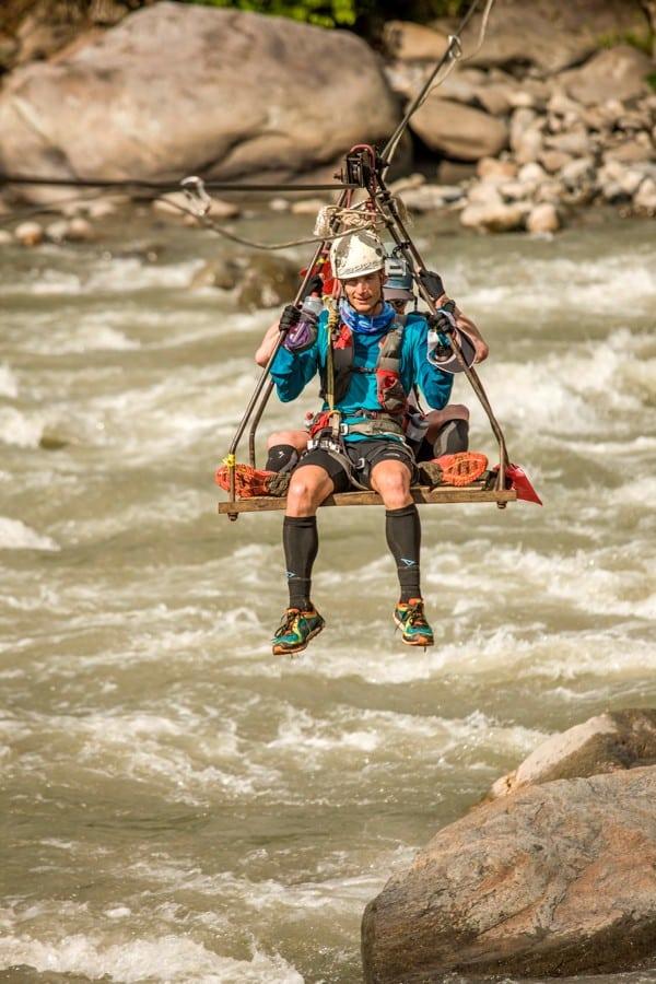 Ian Sharman - 2013 Jungle Ultra - river crossing