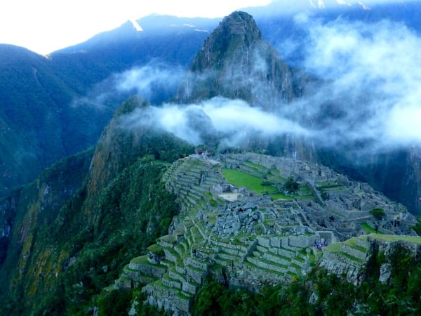 Machu Picchu at dawn - trail running