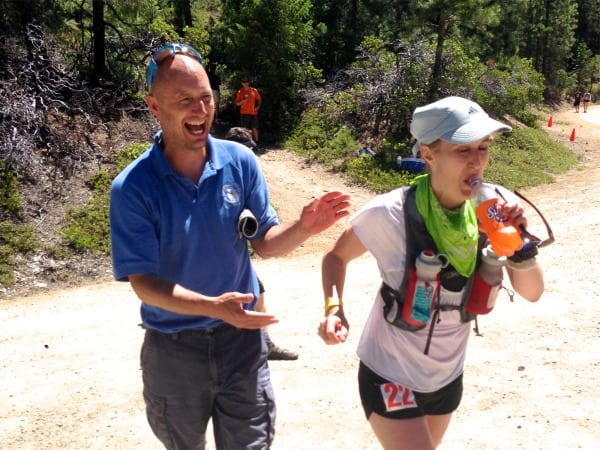 Pam Smith - 2013 Western States 100 - Dusty Corners with Thornley