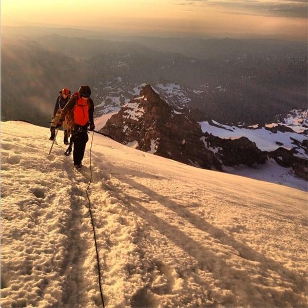 Mount Rainier - Dakota Jones with Sender Films crew