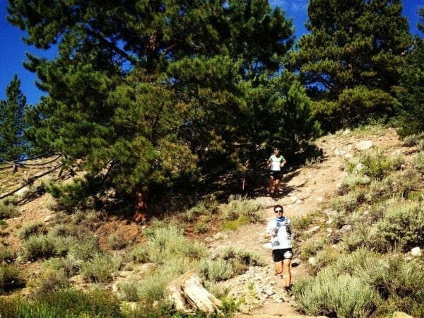 Ian Sharman - Nick Clark - 2013 Leadville 100 - Twin Lakes outbound