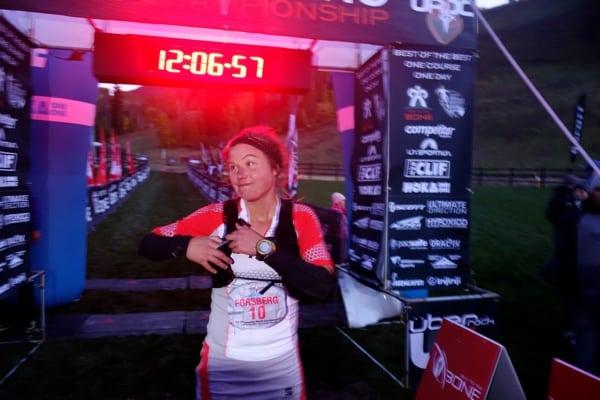Emelie Forsberg - 2013 UROC 100k - Finish