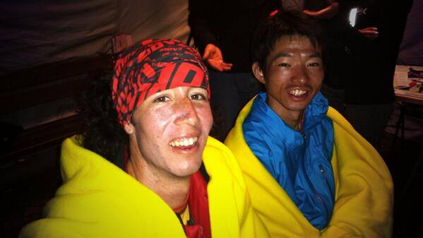 Nick and Ono together late in the race-Photo Tor des Geants